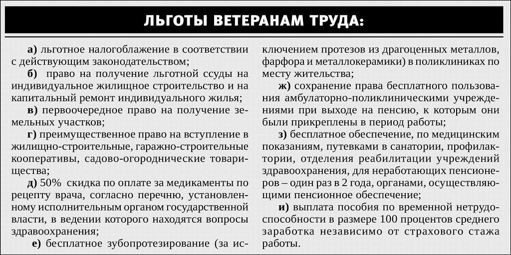 Льготы ветеранам труда в москве 2 ветеранам в семье